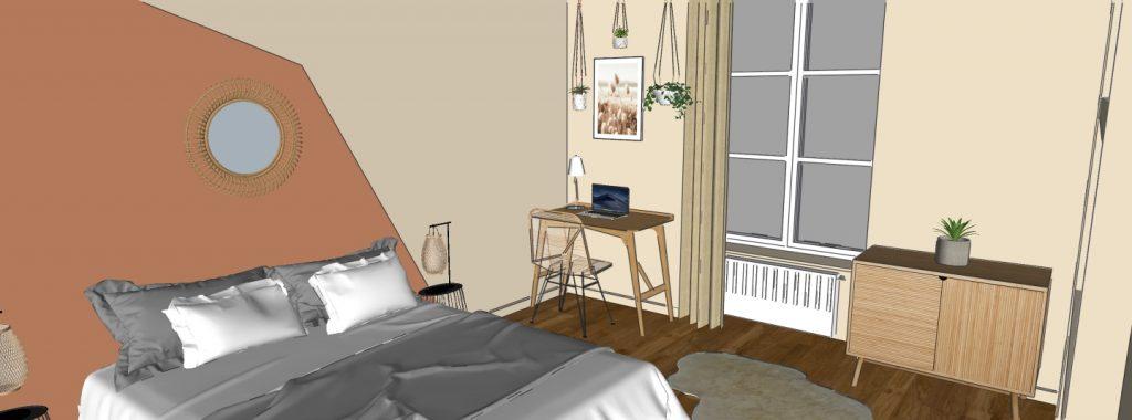 3d d'une chambre dans un investissement locatif à Poitiers